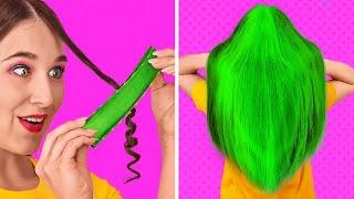 PEINADOS PARA CHICAS Y TRUCOS DE BELLEZA || Problemas graciosos del cabello por 123 GO! SCHOOL