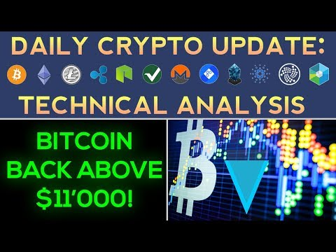 CRYPTO UPTREND, $11'000 BITCOIN, VERGE BREAKOUT! (Daily Update)