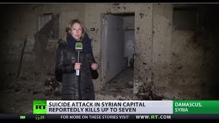 RT's Lizzie Phelan eyewitnesses immediate aftermath of powerful suicide attack in Damascus