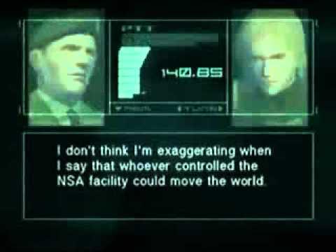 Metal Gear Solid 2 Most Interesting Codec Calls  Volume 1