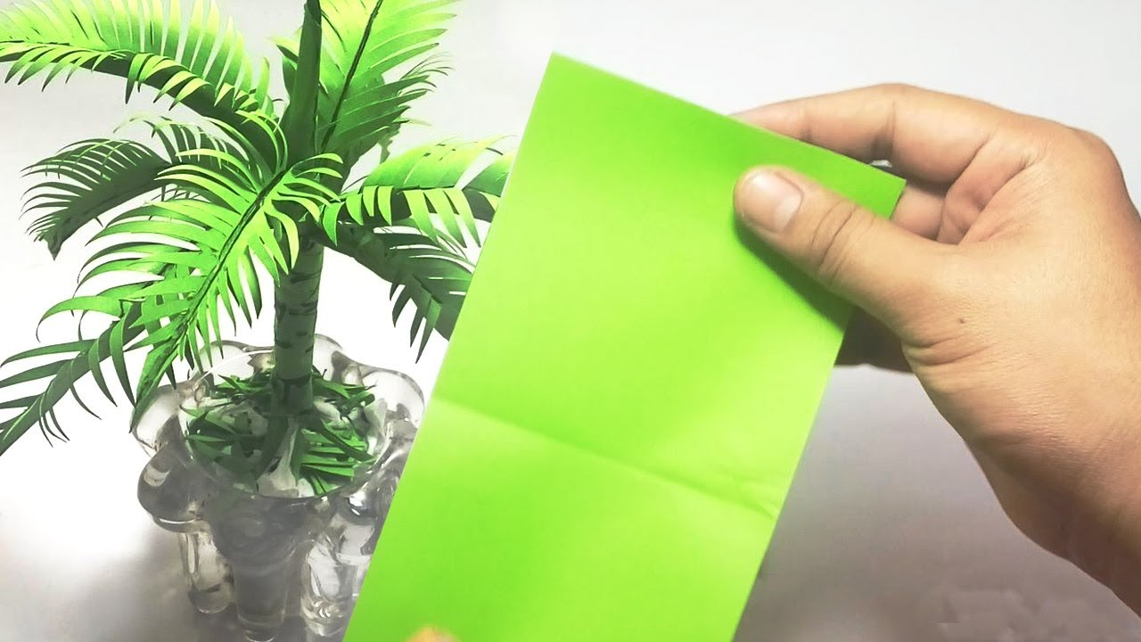 Cara Membuat Pohon Kelapa Dari Kertas Origami Untuk