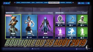 "FORTNITE: Shop August 26, New ""pin"" skin, New pick ""spicy clone"", item shop"