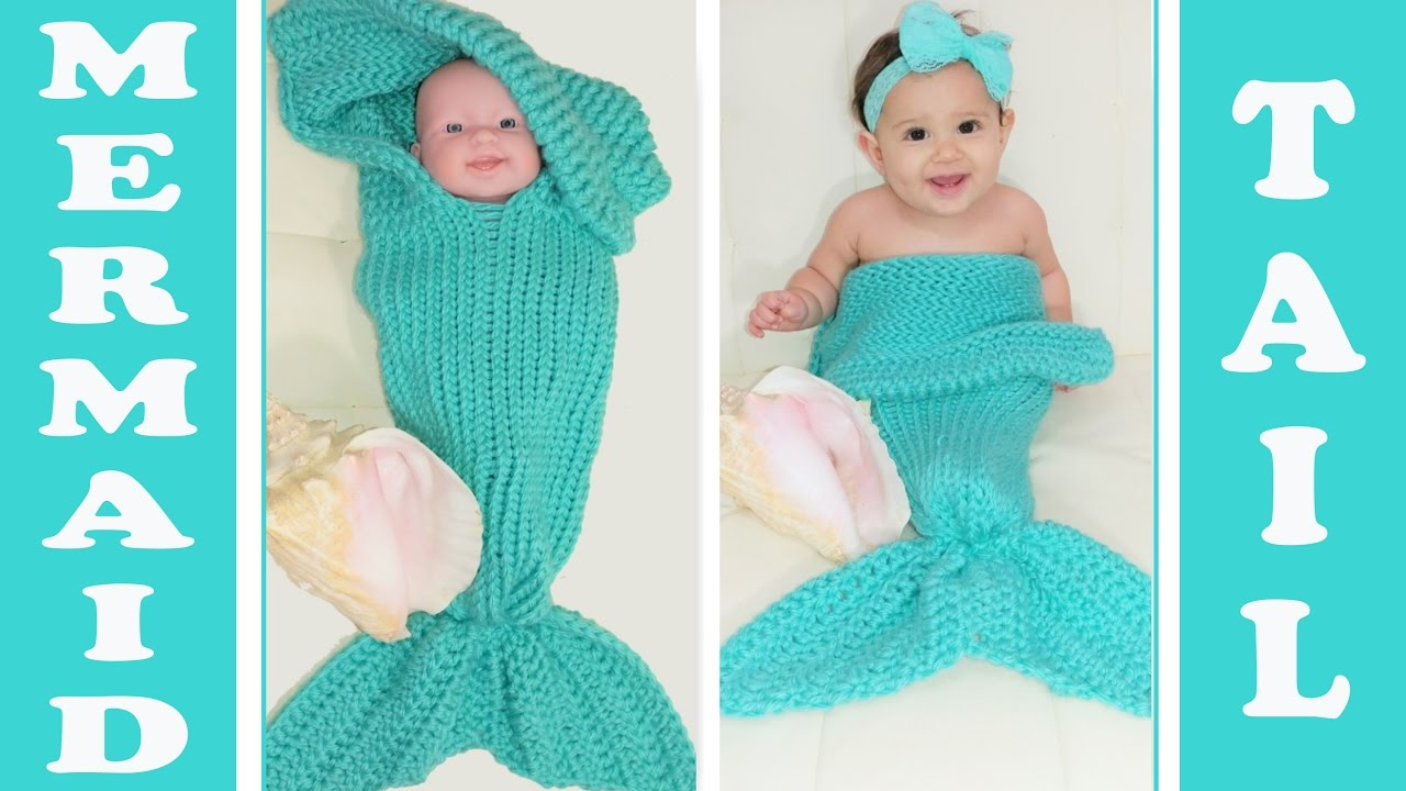 Pt 3 Glamas 2 In 1 Loom Knit Mermaid Tail Cocoonblanket Youtube