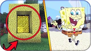 Minecraft Como Hacer PORTAL a la DIMENSION de BOB ESPONJA  PORTAL SIN MODS INCREIBLE