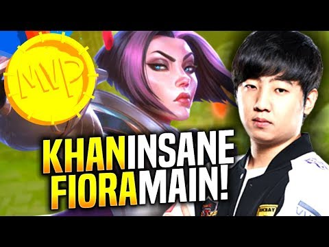 Khan's Fiora is Just Insane!! - When Khan Picks Fiora Top! | SKT T1 Replays
