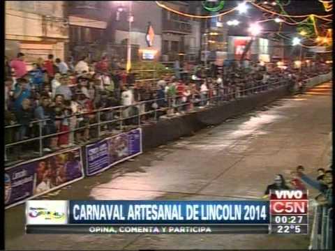 C5N - VERANO 2014: CARNAVAL ARTESANAL DE LINCOLN 2014 01/02/2014 (PARTE 3)