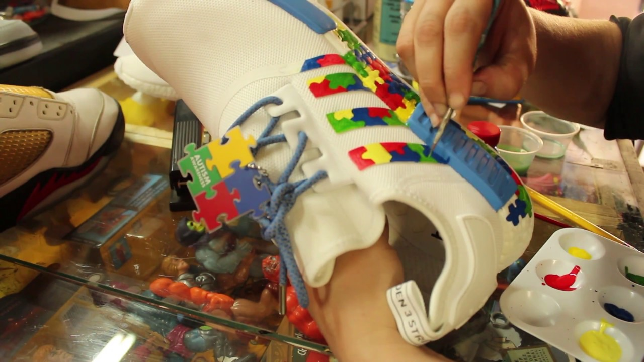 Custom Adidas NMD Autism Awareness KOS Kingofsneakers.com - YouTube a1e31f721