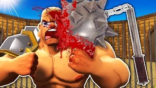 MASSIVE GLADIATOR WEAPON IN VIRTUAL REALITY! (GORN VR Funny HTC Vive Gameplay)