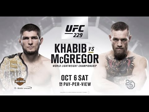UFC 229 Conor McGregor & Khabib Full Walk Out