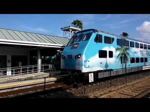 Amtrak, Tri-Rail, JetBlue & Spirit Airlines at Fort Lauderdale Airport Train Station (7.28.16)
