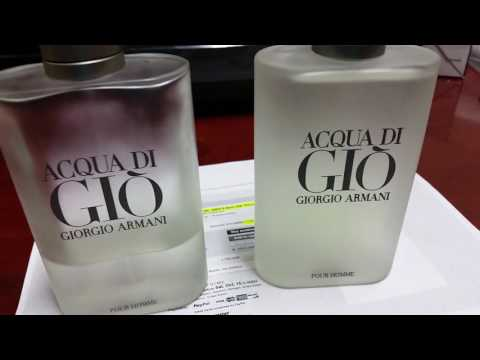 a4e2017f4290 REAL VS FAKE ACQUA DI GIO GIORGIO ARMANI MEN EAU DE TOILETTE SPRAY BY  GIORGIO ARAMNI - YouTube