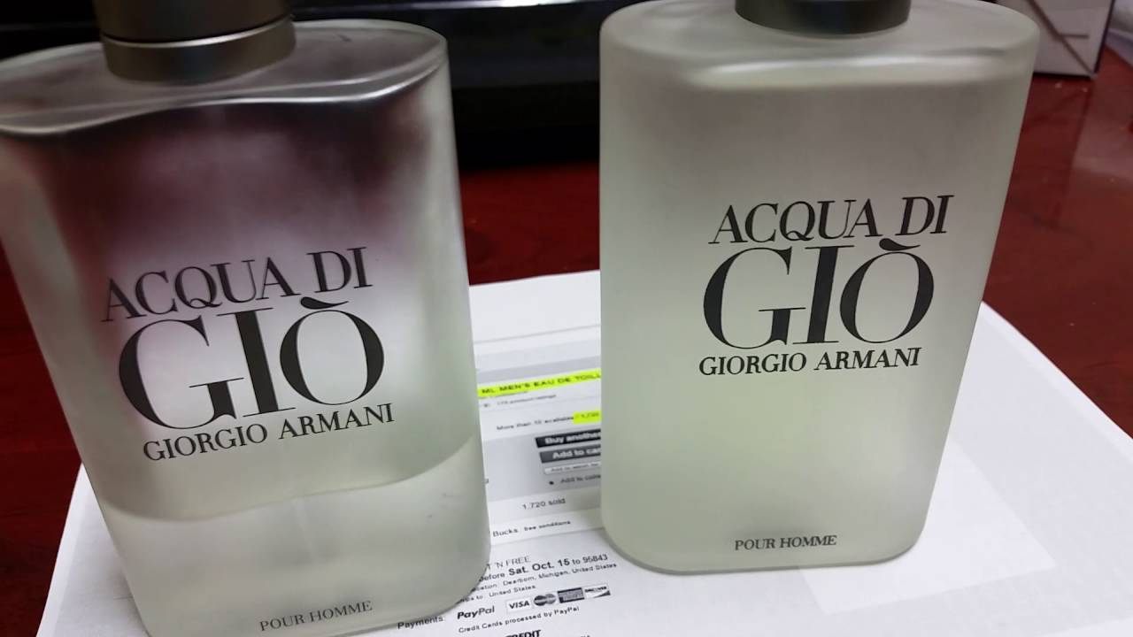 Real Vs Fake Acqua Di Gio Giorgio Armani Men Eau De Toilette Spray