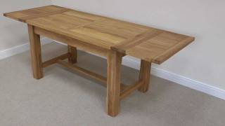 Solid Oak Refectory Extending Table 1.4m