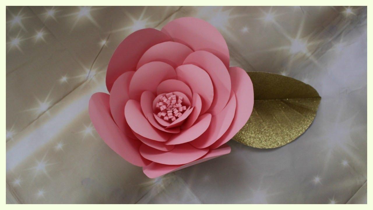 Diy Flores Gigante De Cartulina Youtube