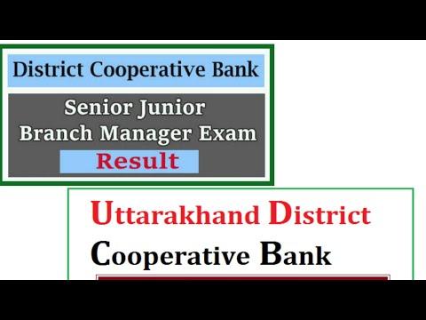 Uttarakhand Cooperative Bank Result 2019   UK Cooperative