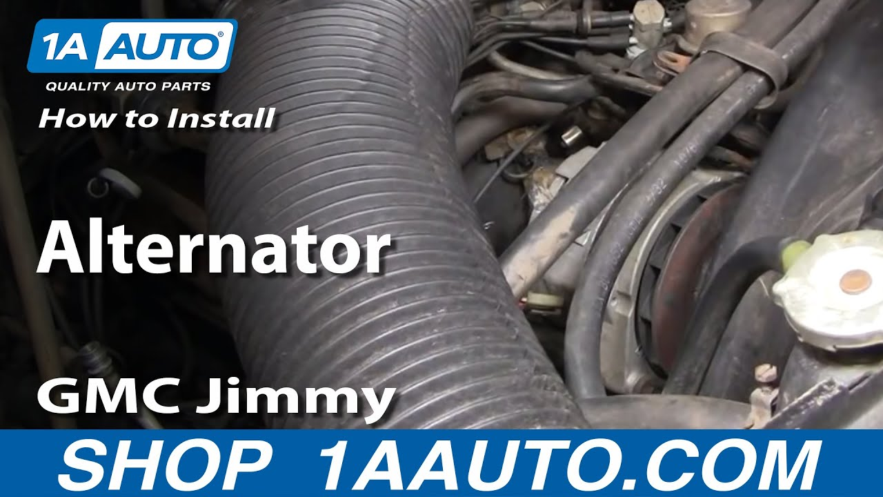 hight resolution of how to replace alternator 73 82 gmc jimmy full size