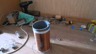 Как сделать мощную катушку тесла на транзисторе