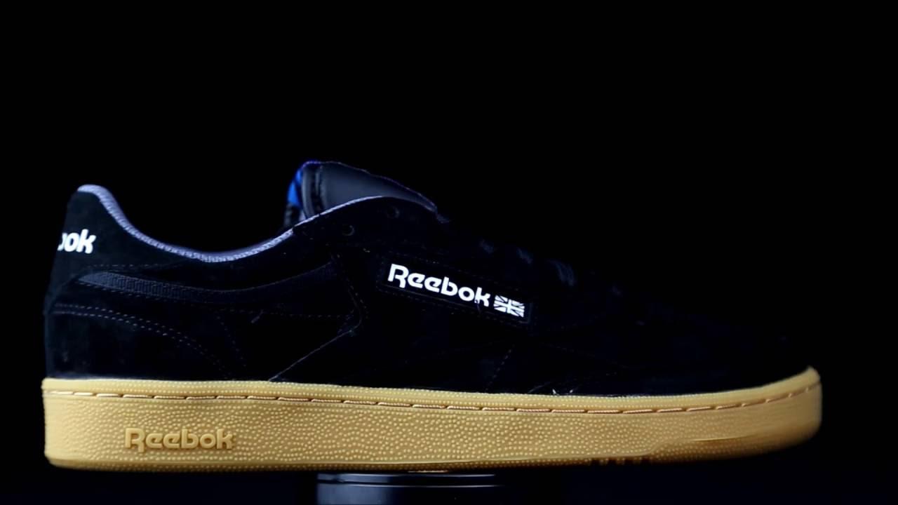 59373775548bb0 Reebok Club C 85 Indoor suede negro. - YouTube