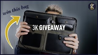 3K GIVEAWAY | Win A Leather & Waxed-Canvas Laptop Case by Otter Pass