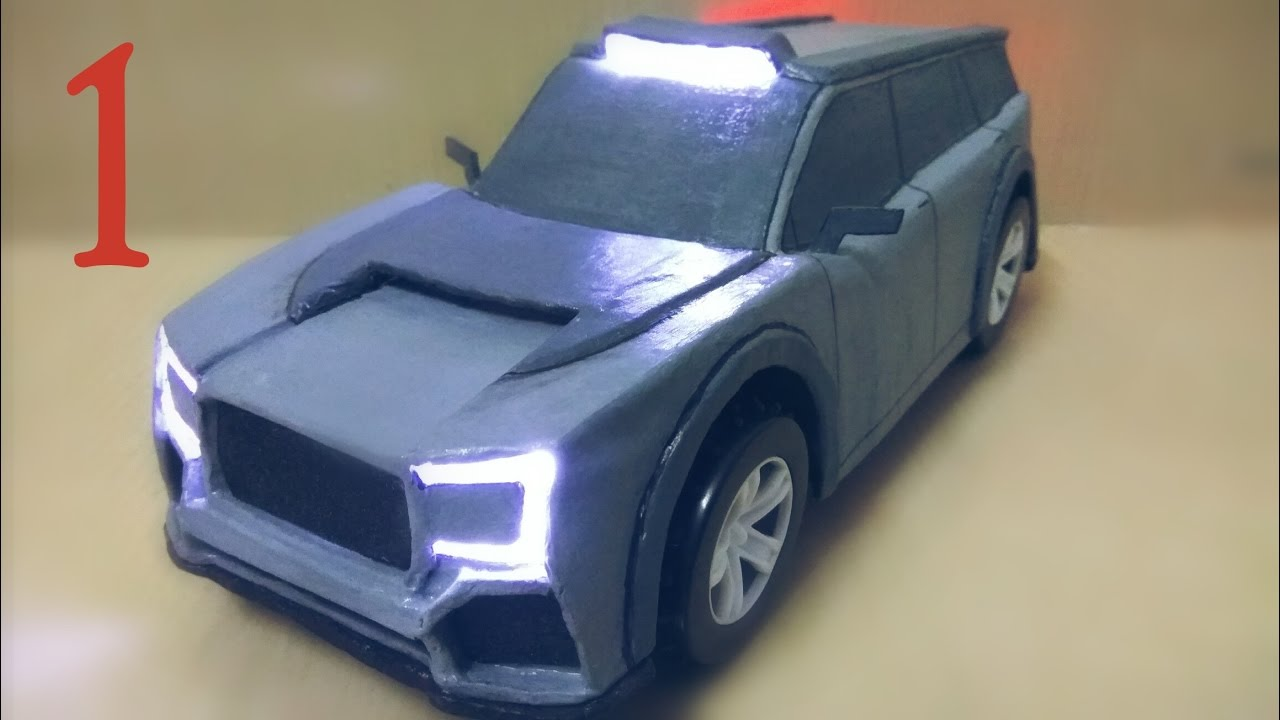How To Make Electric Toy Car Using Cardboard And DC Motor