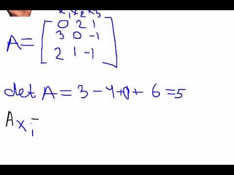 Решение системы линейных уравнений. Крамер - YouTube