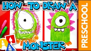 How To Draw A Funny Monster