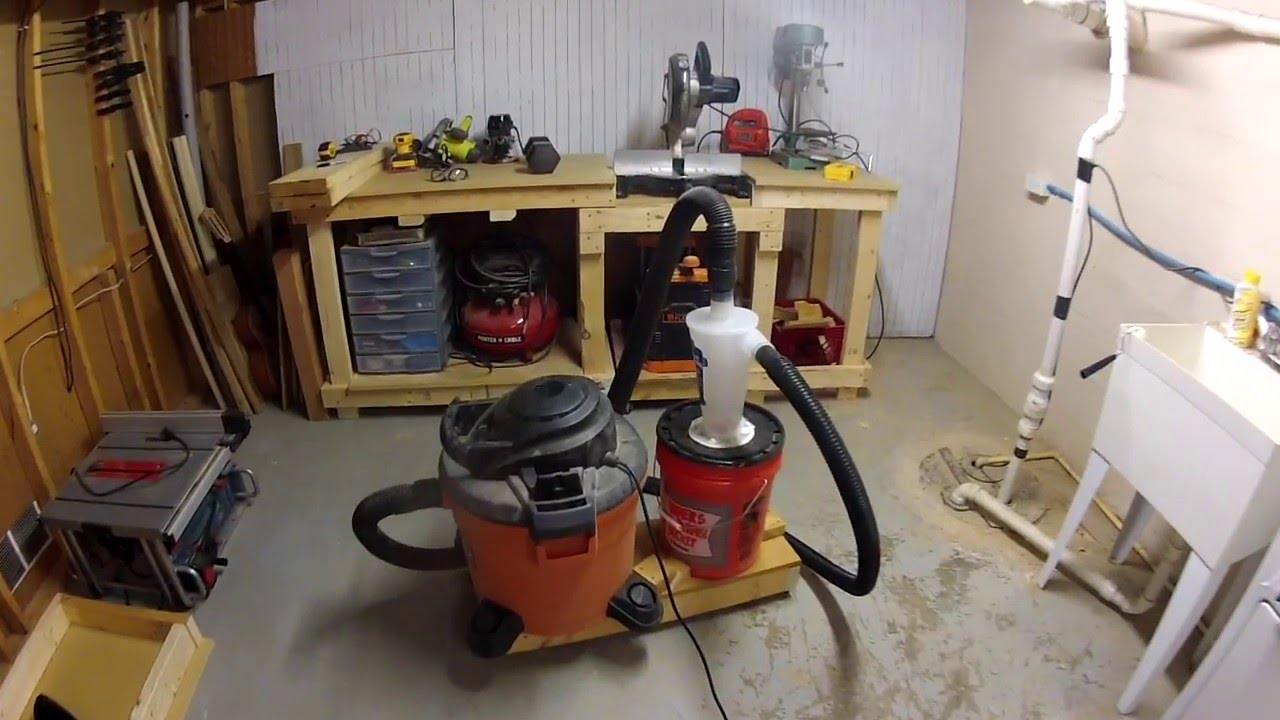 Quick And Easy Diy Dust Collection Dust Deputy Youtube