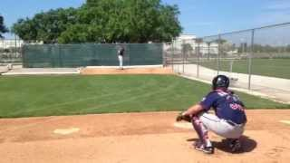 Tommy Milone Throws in the Bullpen