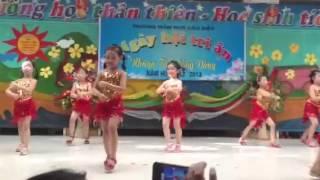 học sinh mẫu giáo mầm non tập múa, các điệu múa đẹp,