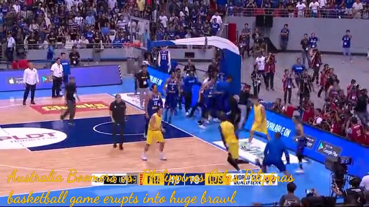 Australia Boomers vs. Philippines Gilas Pilipinas basketball game ... dd4129837