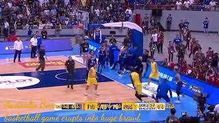 Australia Boomers vs. Philippines Gilas Pilipinas basketball game erupts into huge brawl. Sports