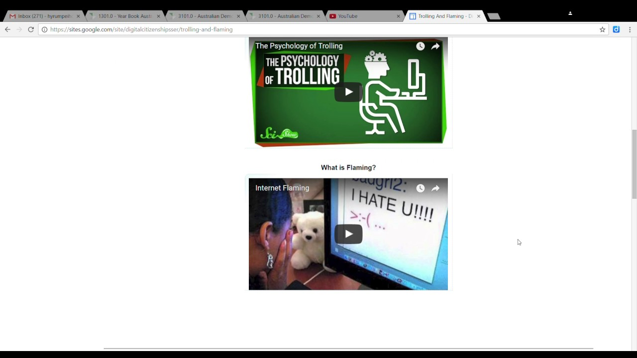 trolling and flaming digital