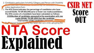 CSIR NET result 2019 December   NTA score explained