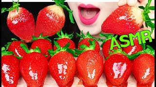 ASMR *RECIPE* CANDIED FRUITS TANGHULU 탕후루 레시피 딸기 탕후루 먹방 EATING SOUNDS