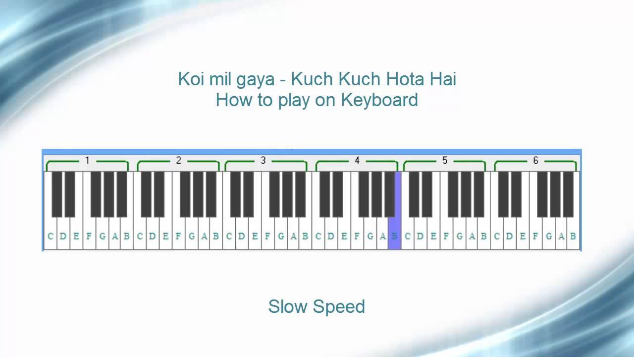 Koi mil gaya keyboard tutorial kuch kuch hota hai youtube hexwebz Images