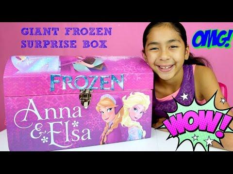 HUGE FROZEN SURPRISE BOX!! MLP Surprise Eggs Nemo Shopkins Crayola Maker Kids Activities|B2cutecup