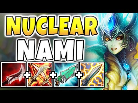 NUCLEAR ONE-SHOT NAMI MID! GOD-TIER INSTANT KILL ASSASSIN! (INSANE) - League of Legends