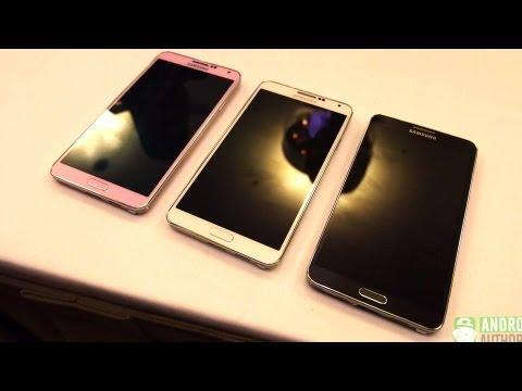 Quick comparison: Galaxy Note 3 Pink vs White vs Black