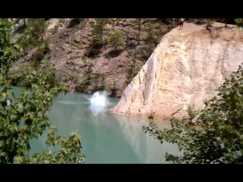 Cliff jumping at bluehole Arkansas  YouTube