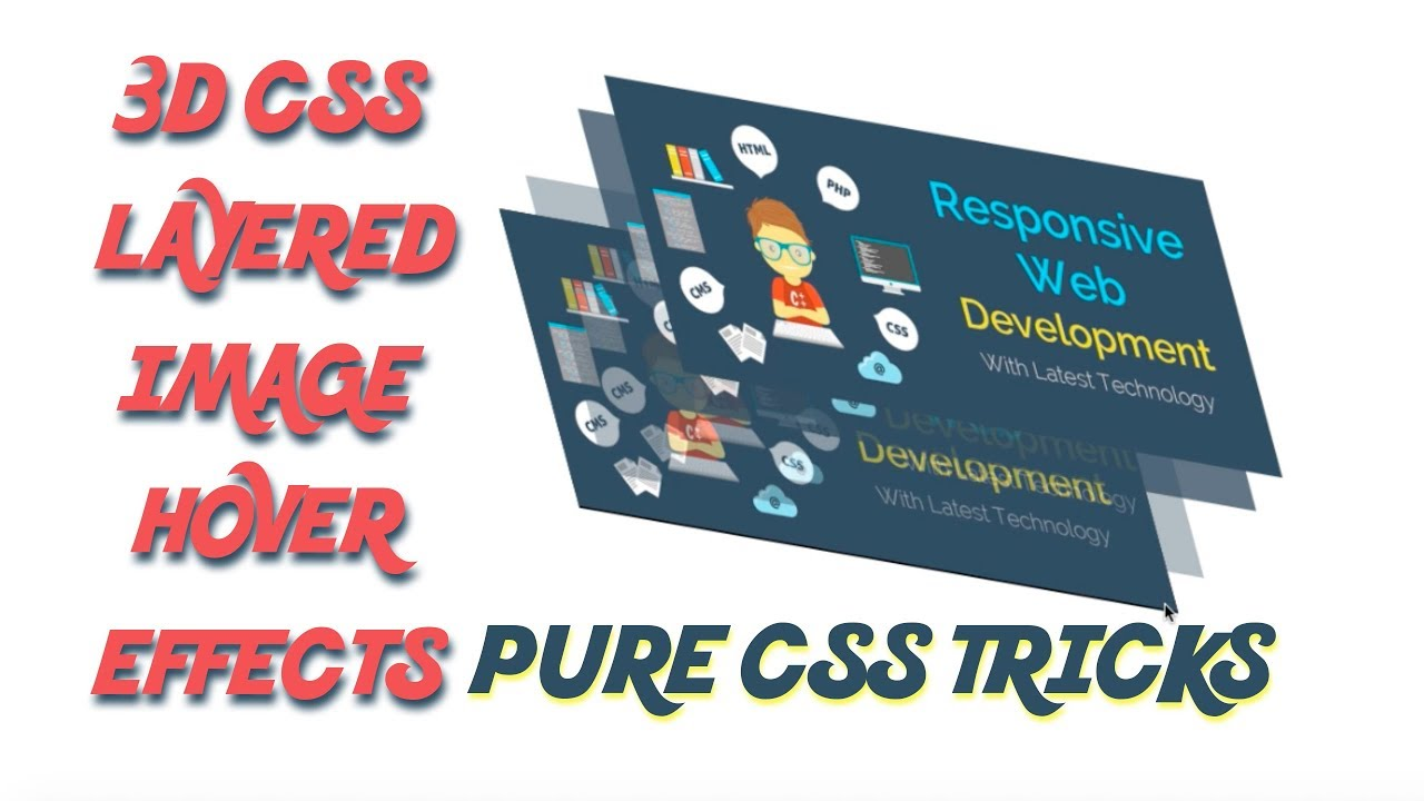 CSS 3d Layered Image Hover Effects - CSS Isometric Design