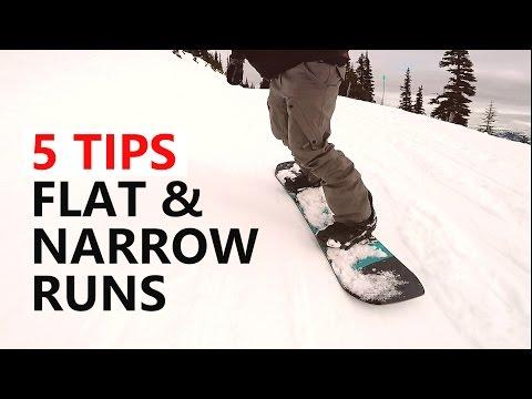 5 Tips To Survive Flat & Narrow Runs - Beginner Snowboard Tutorial