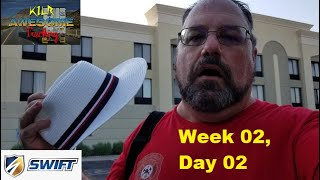 Pre-Trip Inspections & Straight-Line Bacĸing || Swift Academy || KILR Awesome Trucking w02d02