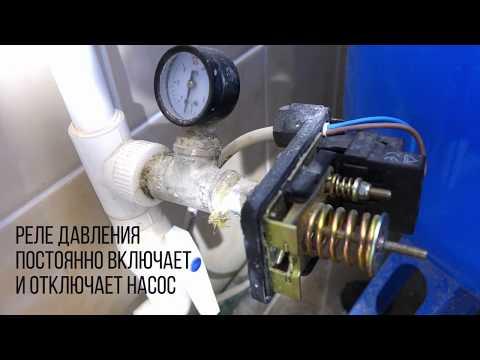 Работа реле давления в системе без гидроаккумулятора