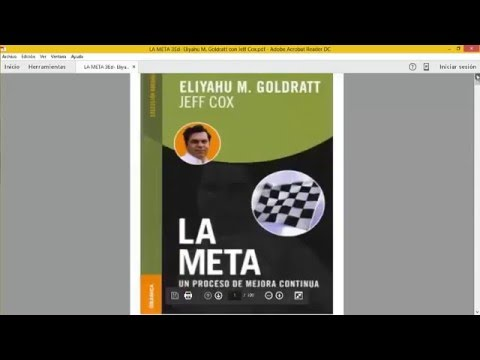 Pdf the eliyahu goldratt goal