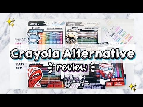 REVIEW PLUMONES ALTERNATIVE CRAYOLA - Mi opinión - DanielaGmr ♥