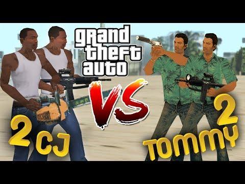 2 CJ VS 2 TOMMY VERCETTİ - GTA SAN ANDREAS MOD