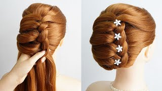 Latest Juda Hairstyle With Gown New Hairstyle For Medium Hair On Lehenga Prom Hairstyle Girls