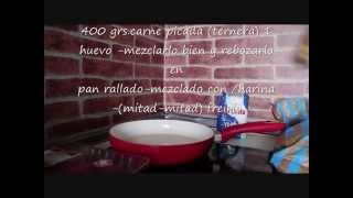 carne rebozada  Y SALSA MIEL Y MOSTAZA