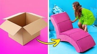 Cheap Cardboard DIY Furniture, Home Decor Crafts And Room Transformation To Make Your Place Cozy