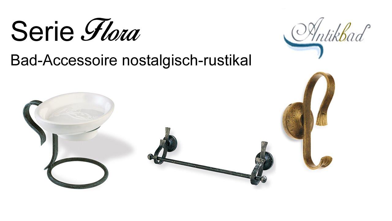 Bad-Accessoire-Serie Flora - Nostalgie im Badezimmer rustikal ...